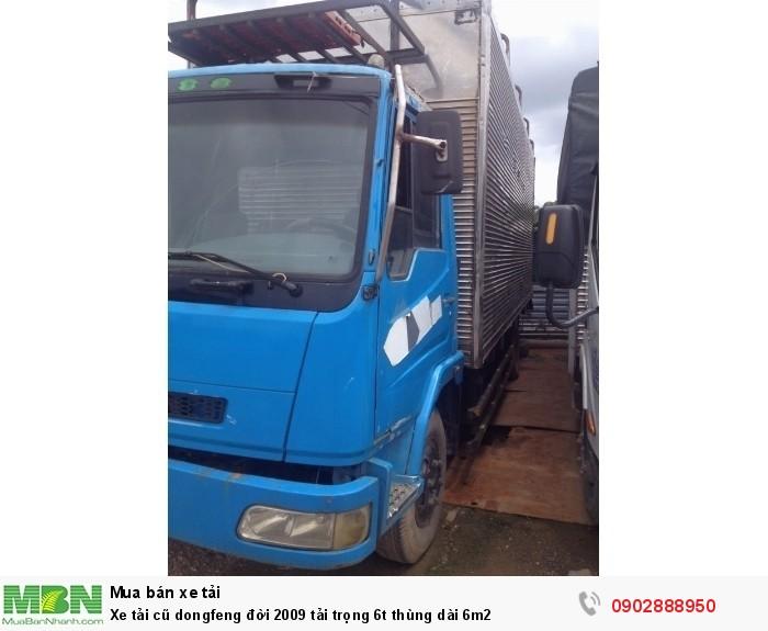 Xe tải cũ dongfeng đời 2009 tải trọng 6t thùng dài 6m2 3