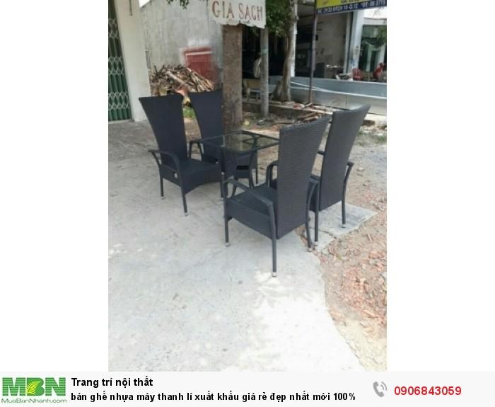 bán ghế nhựa mây thanh lí xuất khẩu giá rẻ đẹp1