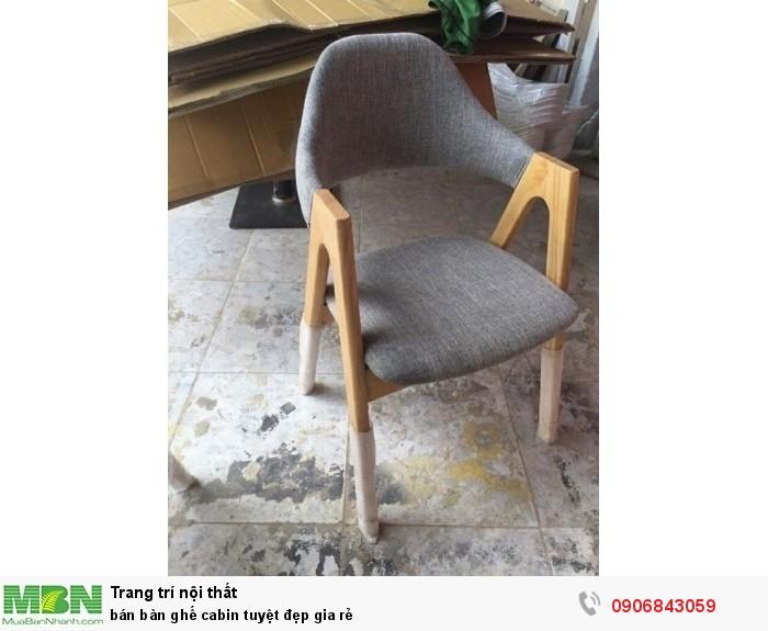 bán bàn ghế cabin tuyệt đẹp gia rẻ1