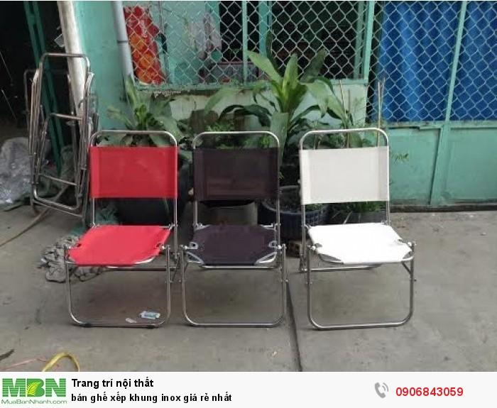 bán ghế xếp khung inox giá rẻ nhất0