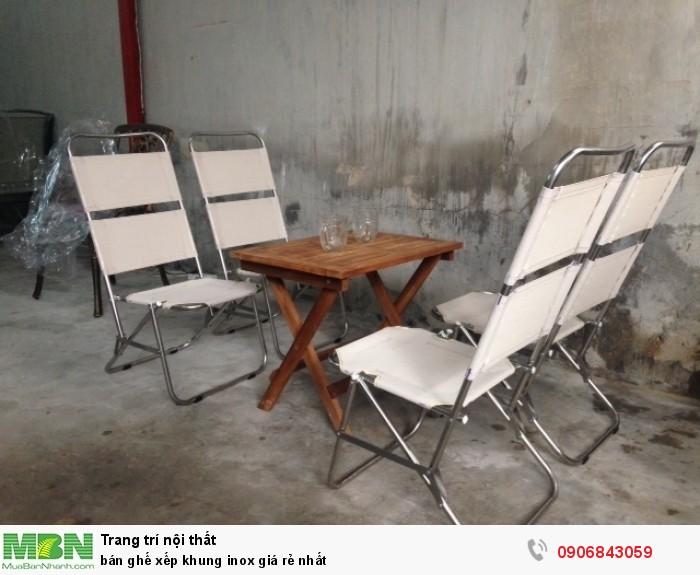 bán ghế xếp khung inox giá rẻ nhất1