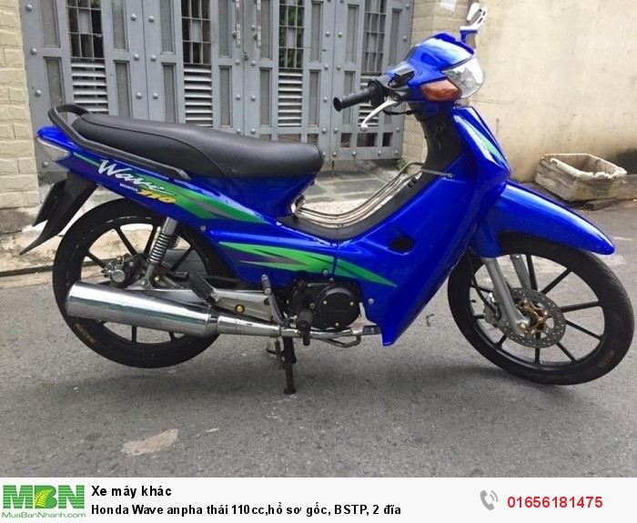 Honda Wave anpha thái 110cc,hồ sơ gốc, BSTP, 2 đĩa