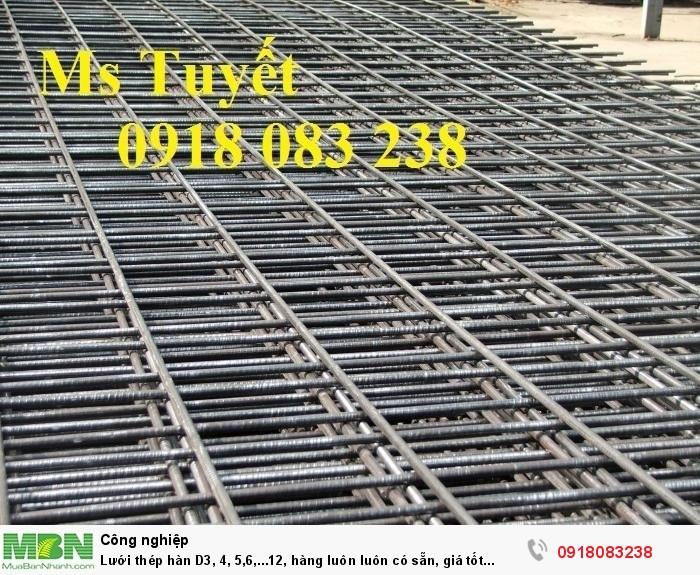 Lưới thép hàn D3, 4, 5,6,...12, hàng luôn luôn có sẵn, giá tốt nhất tại Hà Nội1