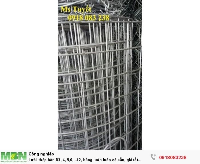 Lưới thép hàn D3, 4, 5,6,...12, hàng luôn luôn có sẵn, giá tốt nhất tại Hà Nội3