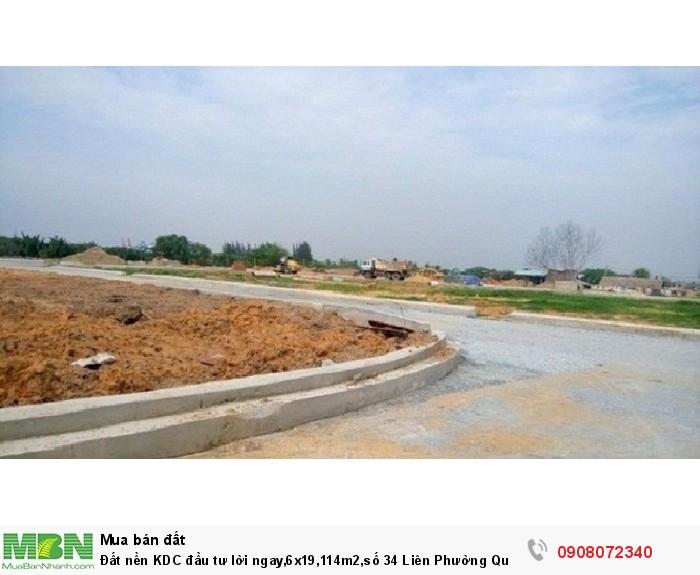 Đất nền KDC đầu tư lời ngay,6x19,114m2,số 34 Liên Phường Quận 2,giá sốc nhất hiện nay,đã có sổ riêng.