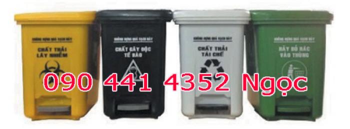 Bán thùng rác 120 lít - 240 lít, thùng đựng chất thải y tế 240 lít màu đen tphcm