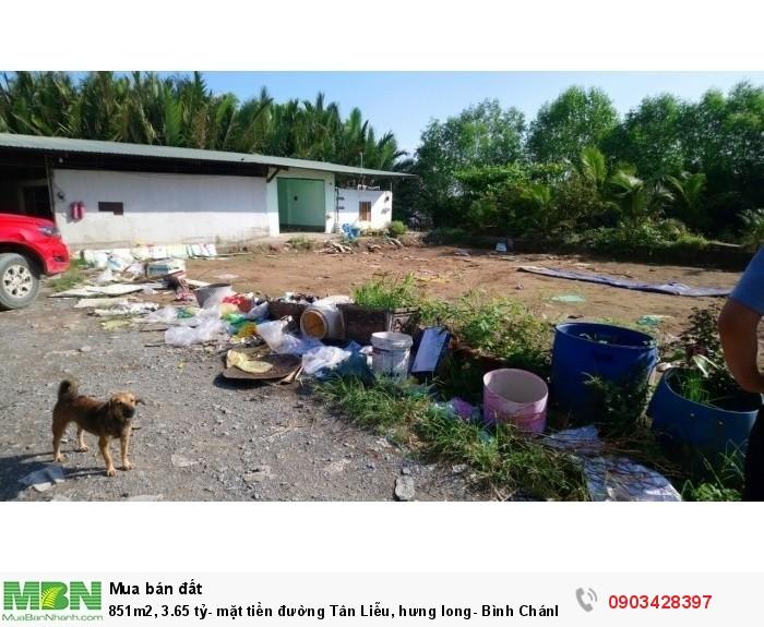 851m2, 3.65 tỷ- mặt tiền đường  Tân Liễu, hưng long- Bình Chánh