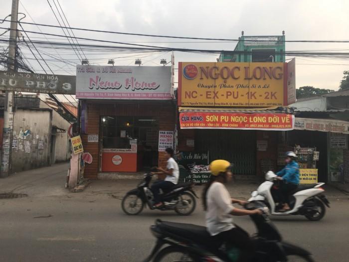 Cho thuê nhà mặt tiền trống suốt ngay ngã 4 Nguyễn Thị Tú, Bình Tân.
