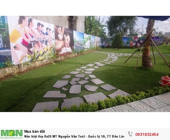 Nền biệt thự 8x20 MT Nguyễn Văn Tuôi - Quốc lộ 1A, TT Bến Lức, Sổ riêng