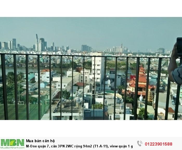 M-One quận 7, căn 3PN 2WC rộng 94m2 (T1-A-11), view quận 1 giá không thương lượng