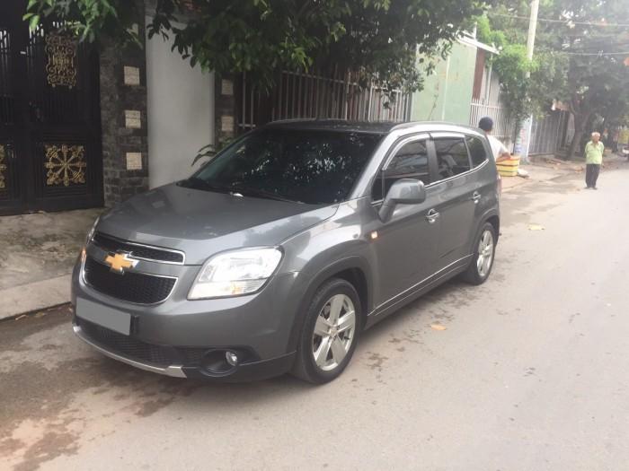 Tôi bán xe Chevrolet Orlando 2014 Ltz tự động màu xám xanh đá xe đẹp . 1