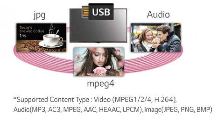 QUẢN LÝ NỘI DUNG USB: Quản lý trình chiếu và thiết lập trình tự các nội dung chỉ bằng kết nối USB – không cần kết nối server.1