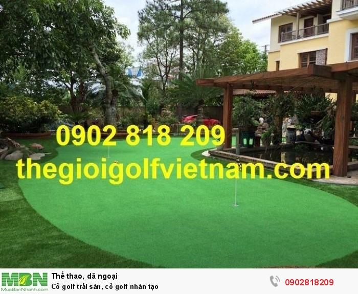 Cỏ golf trải sàn, cỏ golf nhân tạo1