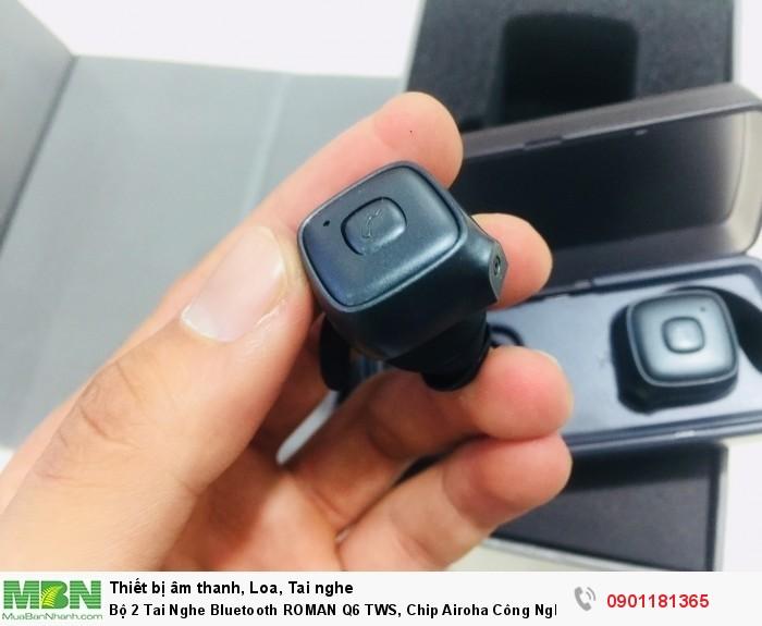 Bộ 2 Tai Nghe Bluetooth ROMAN Q6 TWS, Chip Airoha Công Nghệ Âm Thanh Đỉnh Cao - MSN1812865