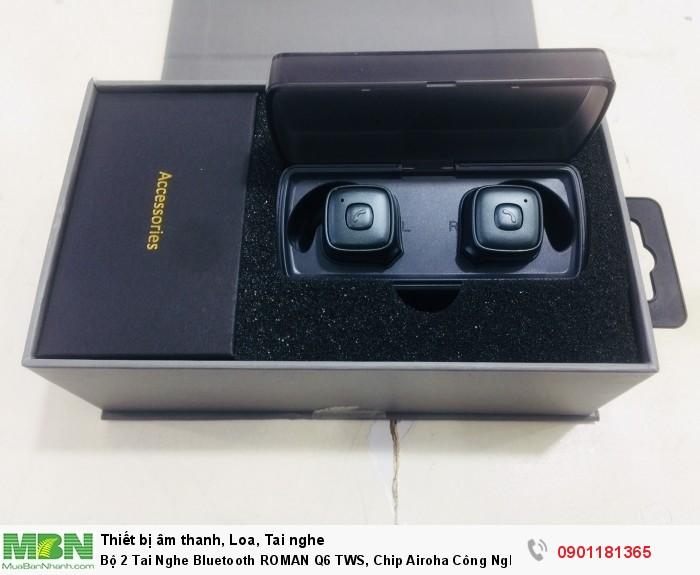 Bộ 2 Tai Nghe Bluetooth ROMAN Q6 TWS, Chip Airoha Công Nghệ Âm Thanh Đỉnh Cao - MSN1812867