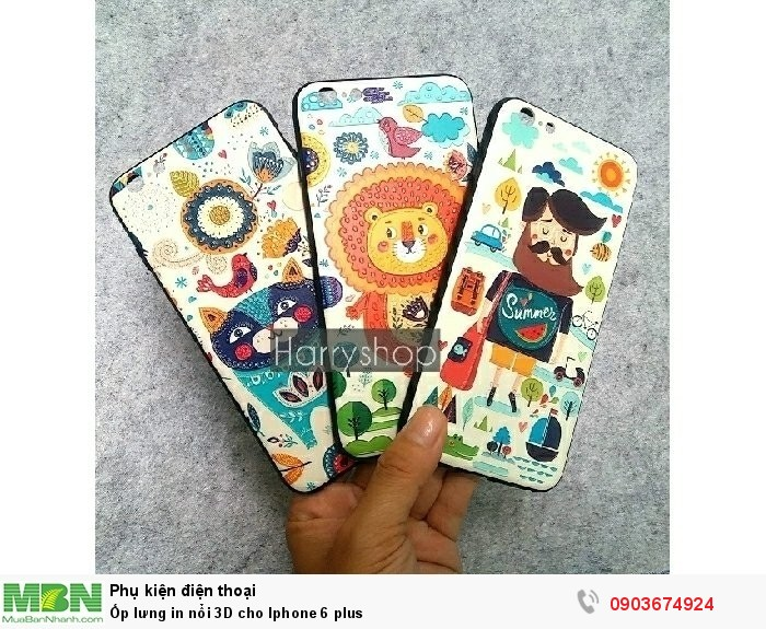 Ốp lưng in nổi 3D cho Iphone 6 plus