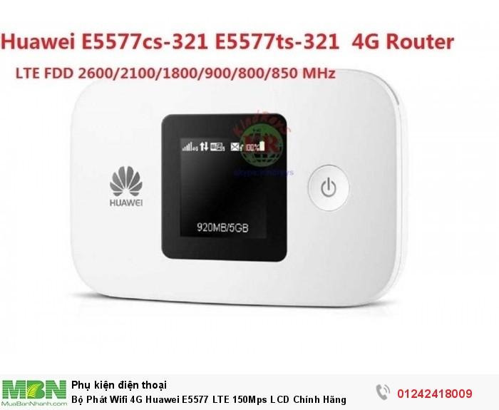 Bộ Phát Wifi 4G Huawei E5577 LTE 150Mps LCD Chính Hãng