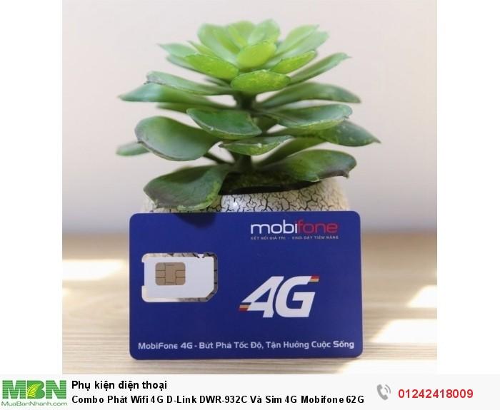 Combo Phát Wifi 4G D-Link DWR-932C Và Sim 4G Mobifone 62Gb/6T - 12T