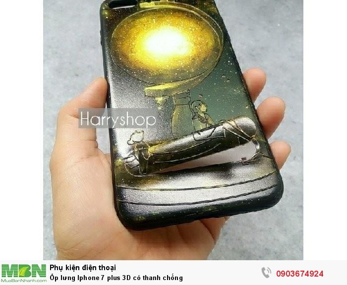 Ốp lưng Iphone 7 plus 3D có thanh chống