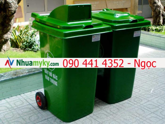 Đại hạ giá thùng đựng rác 120 lít, thùng rác nhựa 240 lít. Thùng đựng rác thải công nghiệp giá rẻ tphcm