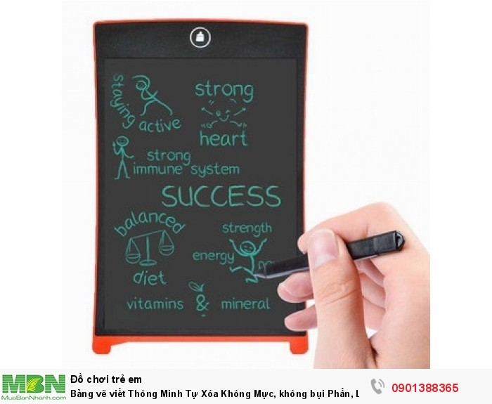 Bảng vẽ viết Thông Minh Tự Xóa Không Mực, không bụi Phấn, LCD 12 inch - MSN388260