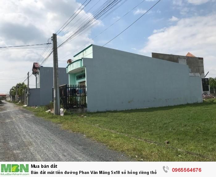 Bán đất măt tiền đường Phan Văn Mãng 5x18 sổ hồng riêng thổ cư, công chứng ngay