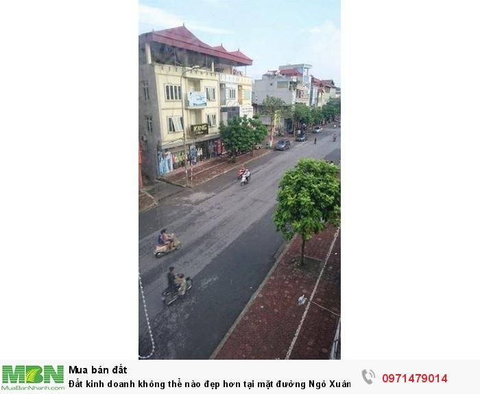 Đất kinh doanh không thể nào đẹp hơn tại mặt đường Ngô Xuân Quảng.