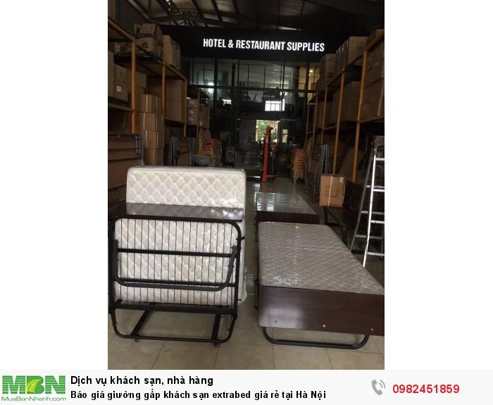 Báo giá giường gấp khách sạn extrabed giá rẻ tại Hà Nội