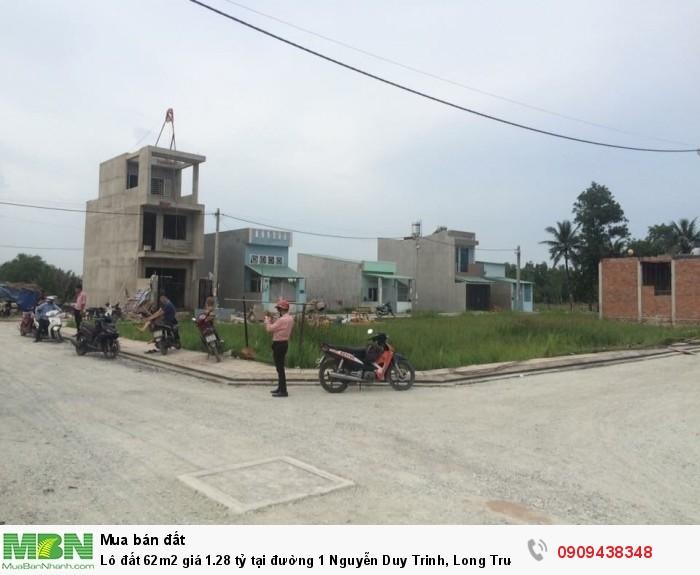 Lô đất 62m2 giá 1.28 tỷ tại đường 1 Nguyễn Duy Trinh, Long Trường bán gấp