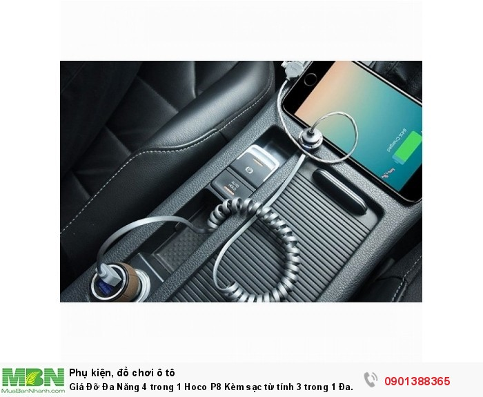 Chiếc giá đỡ này được thiết kế khác hẳn giá đỡ thông thường, bạn không cần phải kẹp điện thoại của mình mà chỉ cần gắn điện thoại vào sợi cáp tích hợp sẵn.