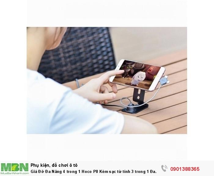 Giá Đỡ Đa Năng 4 trong 1 Hoco P8 Kèm sạc từ tính 3 trong 1 Đa Năng - MSN388289