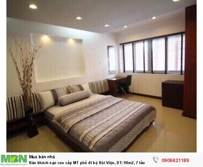 Bán khách sạn cao cấp MT phố đi bộ Bùi Viện, DT: 90m2, 7 lầu