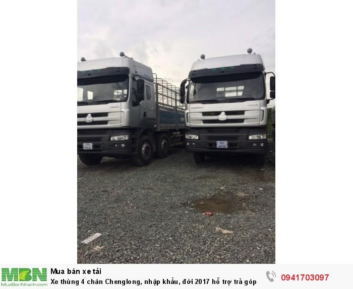 Xe thùng 4 chân Chenglong, nhập khẩu, đời 2017 hỗ trợ trả góp đến 80%