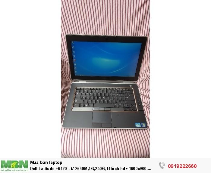 Dell Latitude E6420 - i7 2640M,4G,250G,14inch hd+ 1600x900, webcam,bluetooth, đèn bàn phím,máy đẹp3