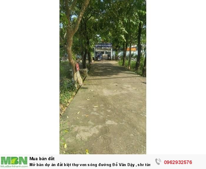 Mở bán dự án đất biệt thự ven sông đường Đỗ Văn Dậy , shr từng nền, cam kết đầu tư lợi nhuận cao