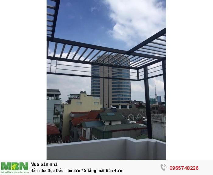 Bán nhà đẹp Đào Tấn 37m² 5 tầng mặt tiền 4.7m