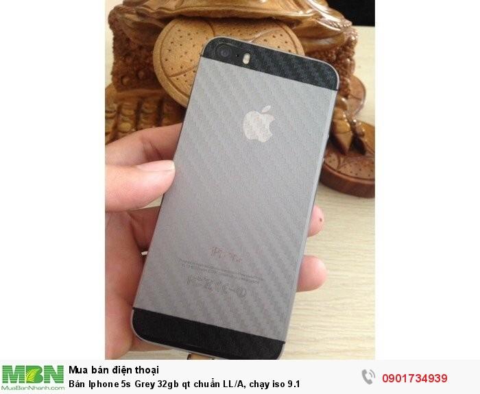 Bán Iphone 5s Grey 32gb qt chuẩn LL/A, chạy iso 9.11