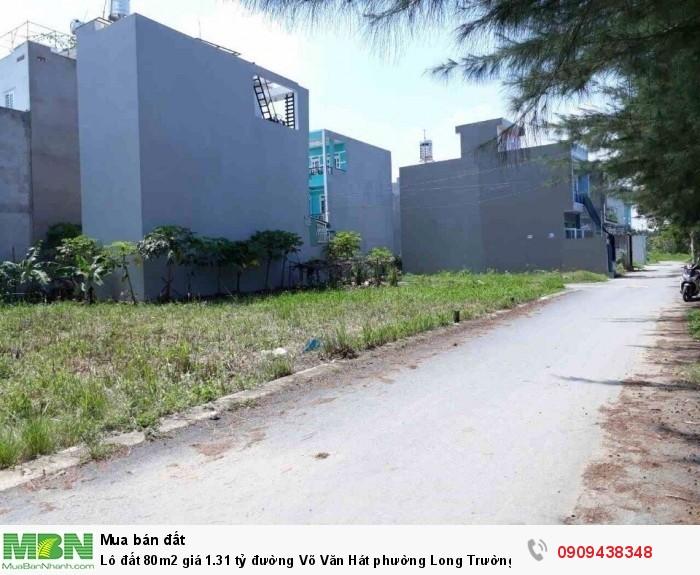 Lô đất 80m2 giá 1.31 tỷ đường Võ Văn Hát phường Long Trường