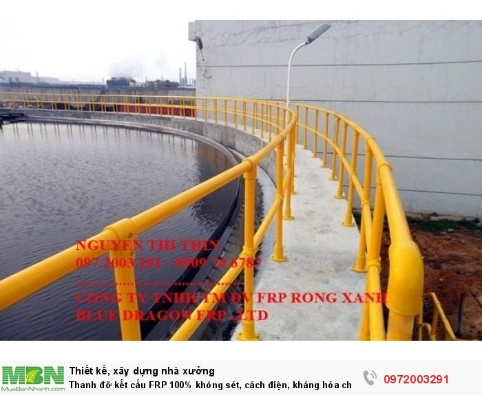 lan can thành hồ xử lý nước thải- 100% không sét rỉ