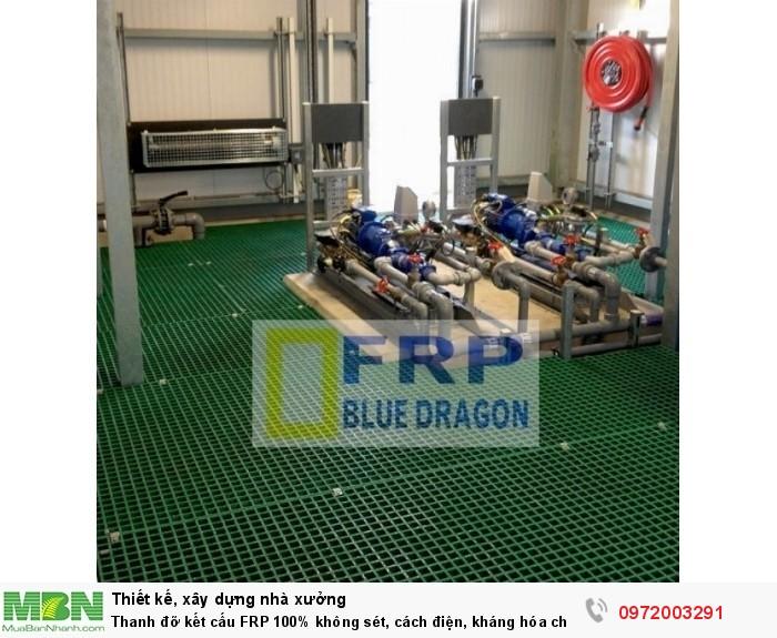 Thanh đỡ kết cấu FRP 100% không sét, cách điện, kháng hóa chất, xây dựng công nghiệp