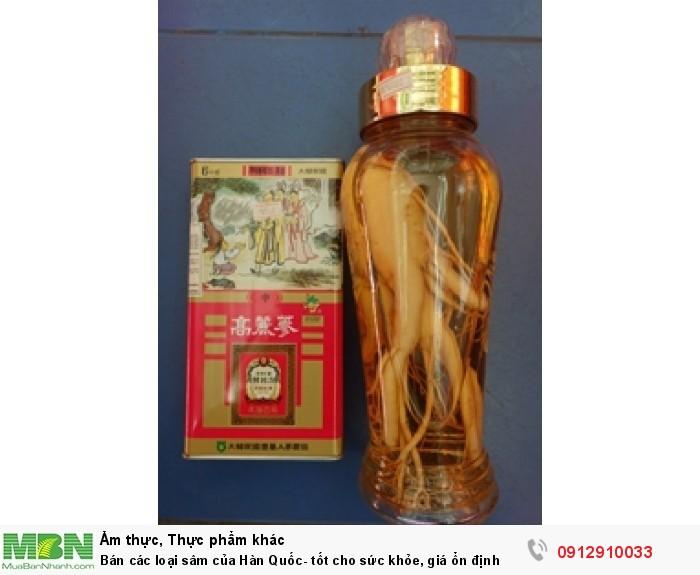 Bán các loại sâm của Hàn Quốc - tốt cho sức khỏe, giá ổn định0