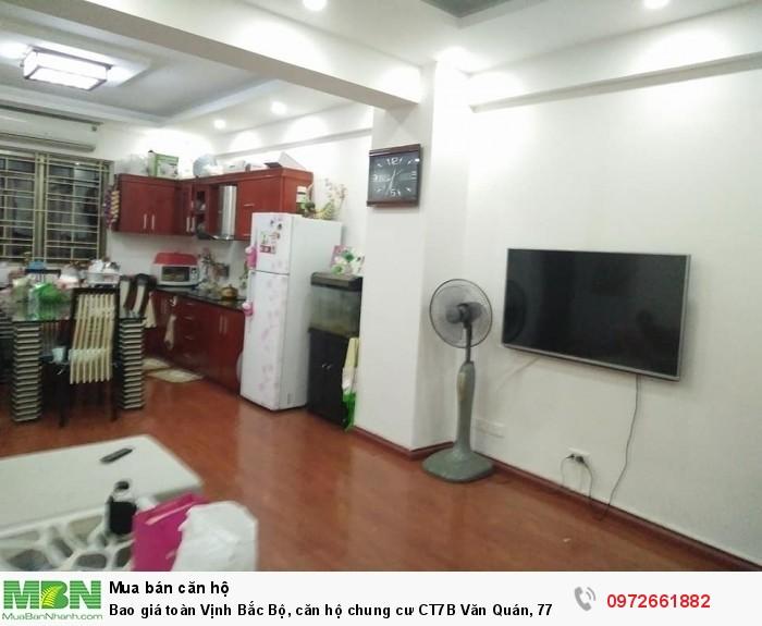 Bao giá toàn Vịnh Bắc Bộ, căn hộ chung cư CT7B Văn Quán, 77 m2