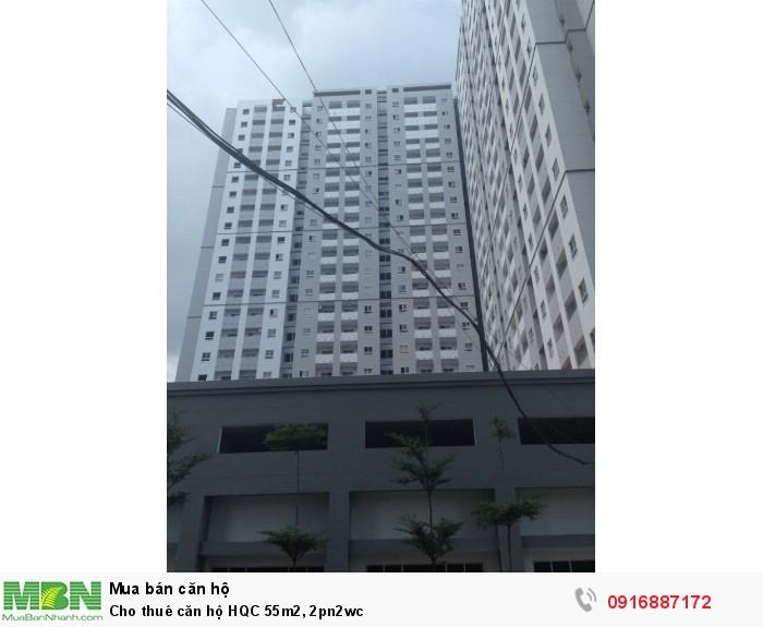 Cho thuê căn hộ HQC 55m2, 2pn2wc
