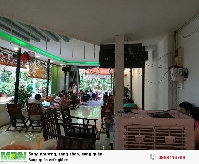 Sang quán cafe giá rẻ