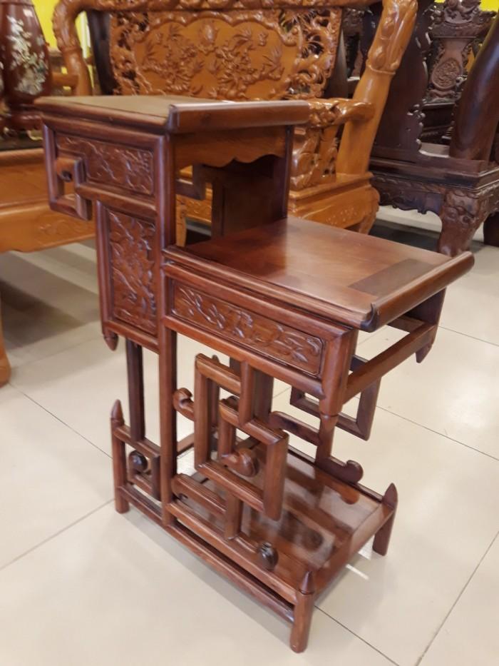 Kệ trưng bày nhỏ gỗ hương - KTB003 - Đồ Gỗ Sơn Đông0