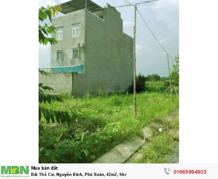 Đất Thổ Cư, Nguyễn Bình, Phú Xuân, 42m2, Shr