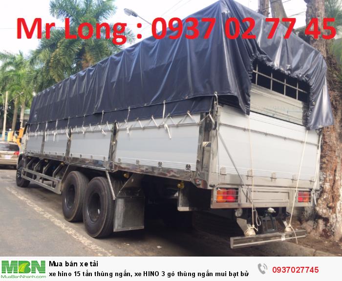 xe tải HINO FL thùng ngắn , xe HINO 3 chân thùng mui bạt , xe tải HINO 15 tấn đóng thùng mui bạt bửng nhôm , xe HINO FL8JTSA mui bạt bửng nhôm , giảm giá xe HINO 15 tấn 2