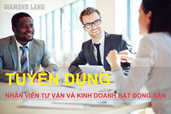 Diamond Land cần tuyển 3 NVVP và 10 NVKD chuyên bán và cho thuê căn hộ tại Đà Nẵng