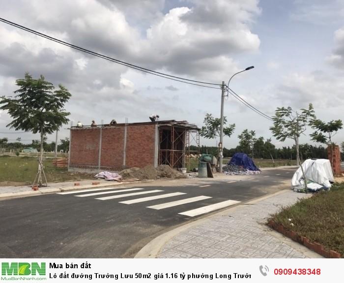 Lô đất đường Trường Lưu 50m2 giá 1.16 tỷ phường Long Trường, Quận 9