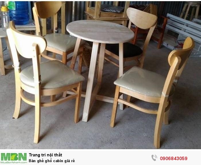 Bàn ghế ghỗ cabin giá rẻ1